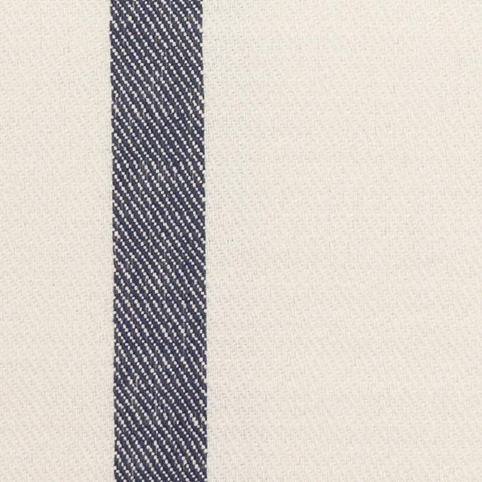 シルク&リネン×ストライプ(ミルク&ネイビー)×厚サージ イメージ1