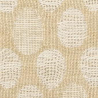 コットン&ビスコース混×オーバル(ライトベージュ)×二重ジャガード_全2色_イタリア製