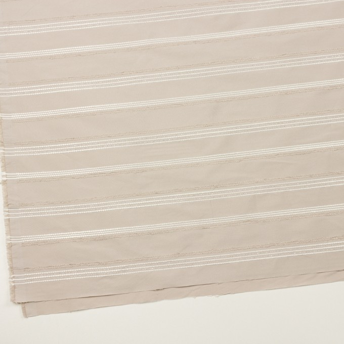 ポリエステル&レーヨン混×ボーダー(シルバーピンク)×形状記憶タフタジャガード イメージ2