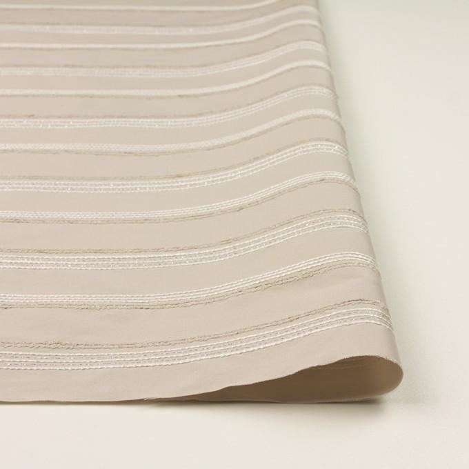 ポリエステル&レーヨン混×ボーダー(シルバーピンク)×形状記憶タフタジャガード イメージ3