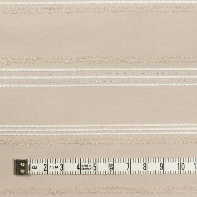 ポリエステル&レーヨン混×ボーダー(シルバーピンク)×形状記憶タフタジャガード イメージ4