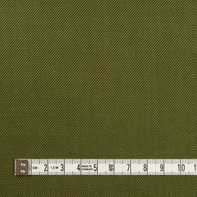 リネン&レーヨン混×無地(カーキグリーン)×サージストレッチ_全4色 イメージ4