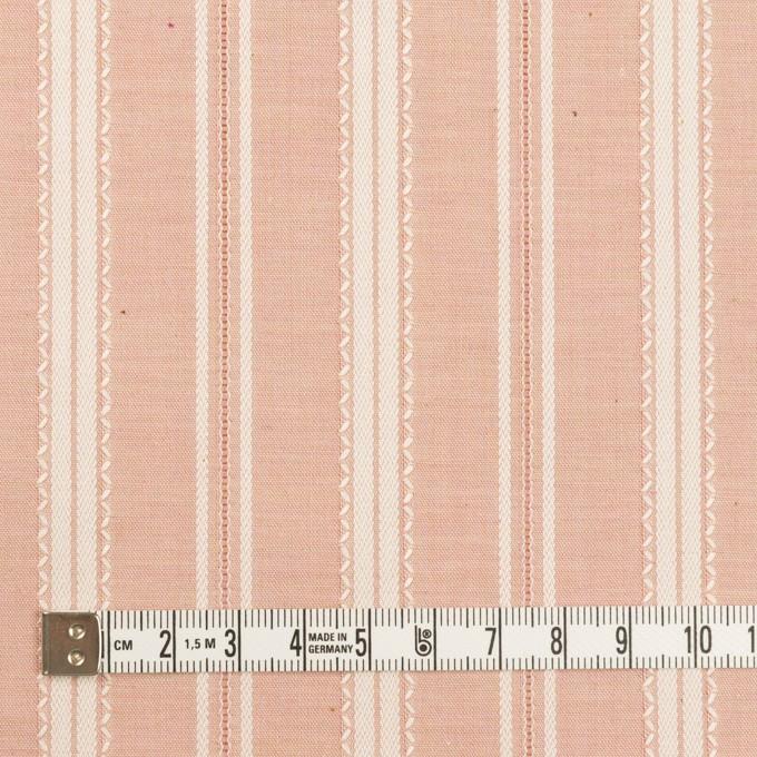 コットン×ストライプ(サーモンピンク)×シャンブレー・ジャガード_全2色 イメージ4