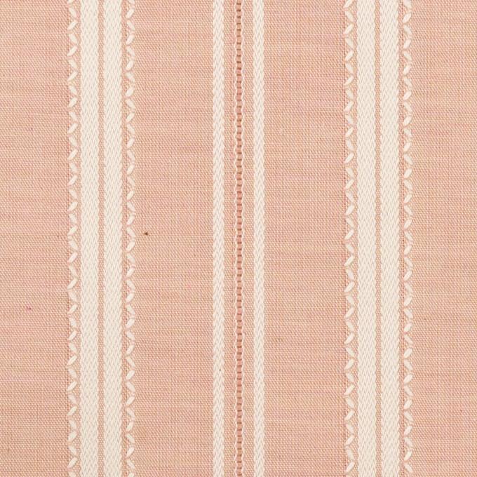 コットン×ストライプ(サーモンピンク)×シャンブレー・ジャガード_全2色 イメージ1