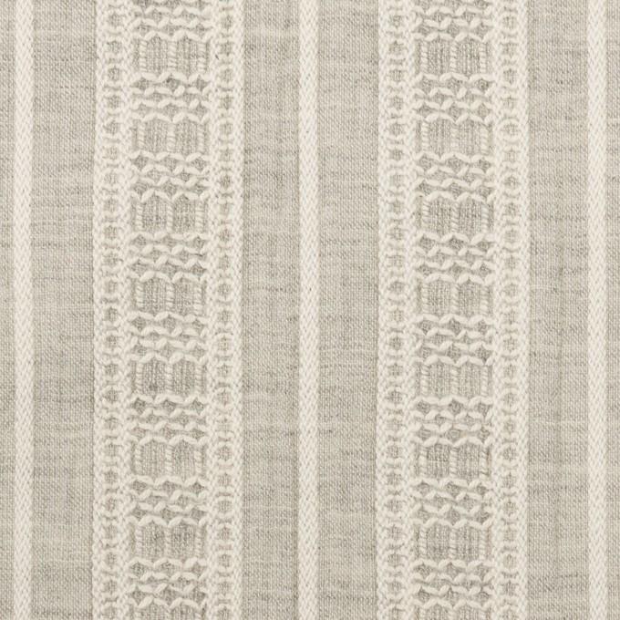 コットン×ストライプ(グレー)×ヨウリュウ・ジャガード_全3色 イメージ1