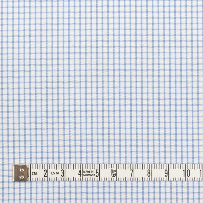 コットン×チェック(サックス)×サージ_全2色 イメージ4