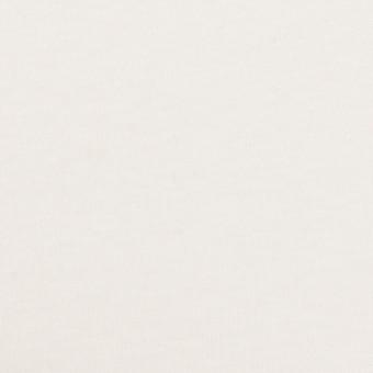 コットン×無地(ホワイト)×スムースニット