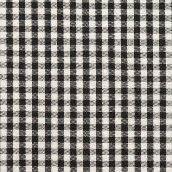 コットン×チェック(ブラック)×ブロード