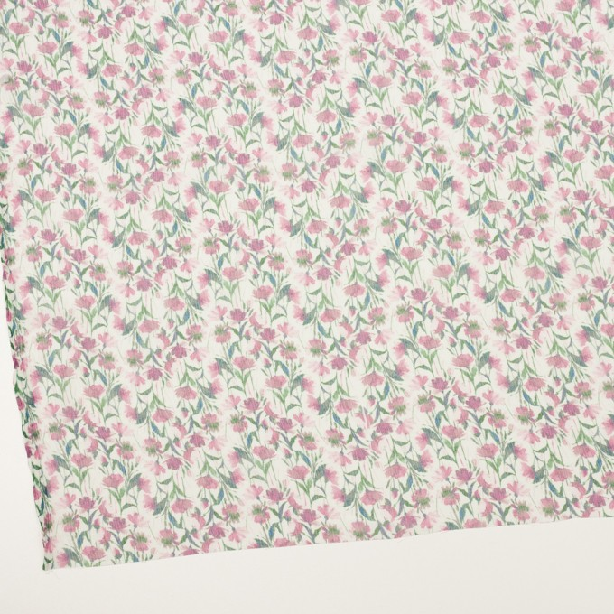 シルク×フラワー(ピンク)×クレープジョーゼット_全2色 イメージ2