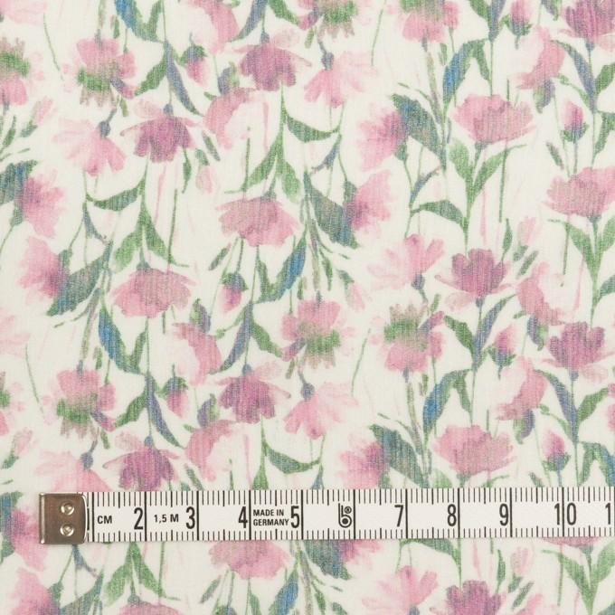 シルク×フラワー(ピンク)×クレープジョーゼット_全2色 イメージ4