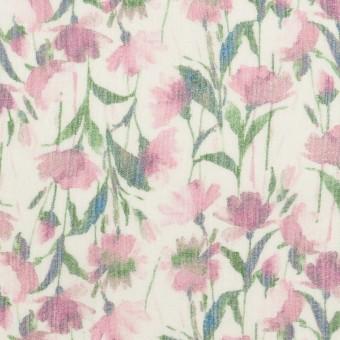 シルク×フラワー(ピンク)×クレープジョーゼット_全2色 サムネイル1