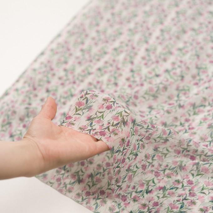 シルク×フラワー(ピンク)×クレープジョーゼット_全2色 イメージ5