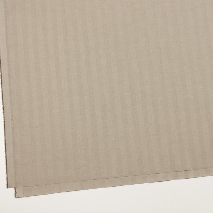コットン&ポリエステル混×無地(カーキベージュ)×ヘリンボーン・ストレッチ_全3色 イメージ2