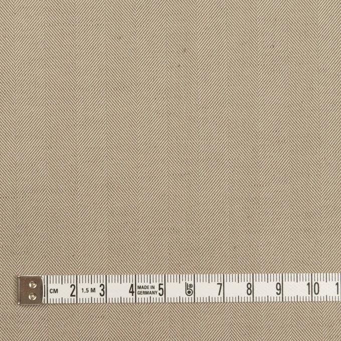 コットン&ポリエステル混×無地(カーキベージュ)×ヘリンボーン・ストレッチ_全3色 イメージ4