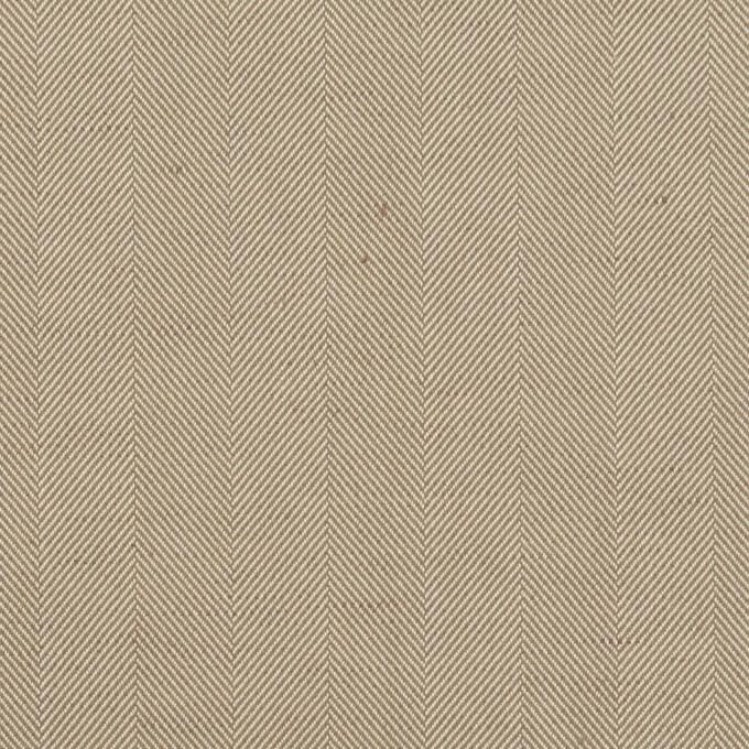 コットン&ポリエステル混×無地(カーキベージュ)×ヘリンボーン・ストレッチ_全3色 イメージ1