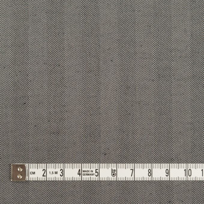 コットン&ポリエステル混×無地(チャコールグレー)×ヘリンボーン・ストレッチ_全3色 イメージ4