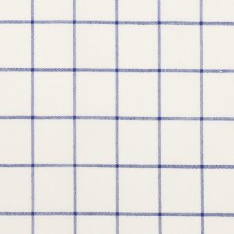 コットン&ポリエステル×チェック(ブルー)×ローン