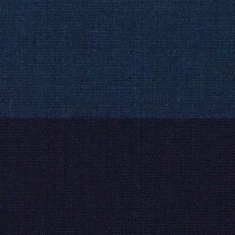 コットン×ボーダー(インディゴ)×キャンバス