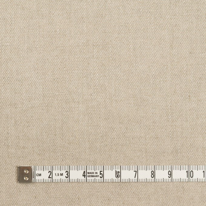 リネン×無地(グレイッシュベージュ)×サージ イメージ4