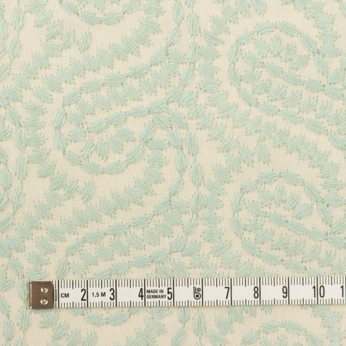コットン×幾何学模様(シャーベットグリーン&エクリュ)×Wガーゼ刺繍_全4色 イメージ4