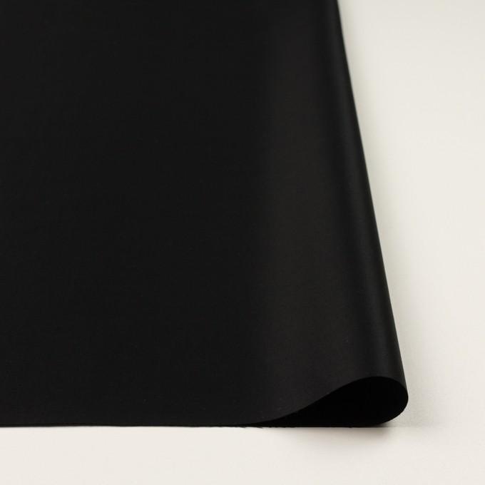 コットン×無地(ブラック)×サテン_全6色 イメージ3