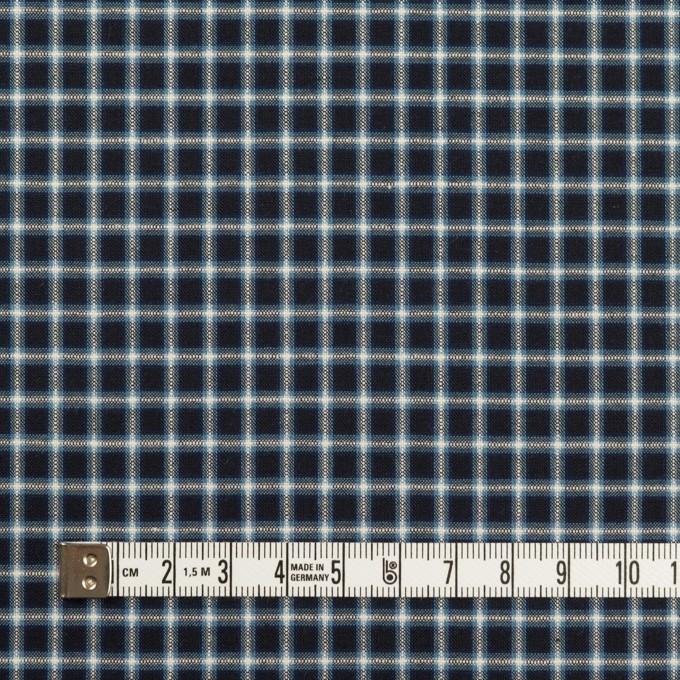コットン×チェック(インディゴ)×ローン イメージ4
