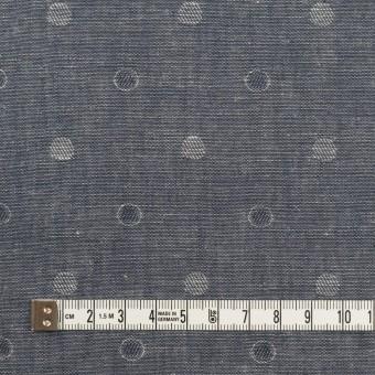 コットン×水玉(インディゴ)×ダンガリー・ジャガード サムネイル4