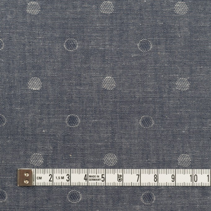 コットン×水玉(インディゴ)×ダンガリー・ジャガード イメージ4