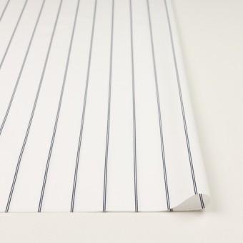 コットン&ポリエステル×ストライプ(ホワイト&ネイビー)×ブロード サムネイル3