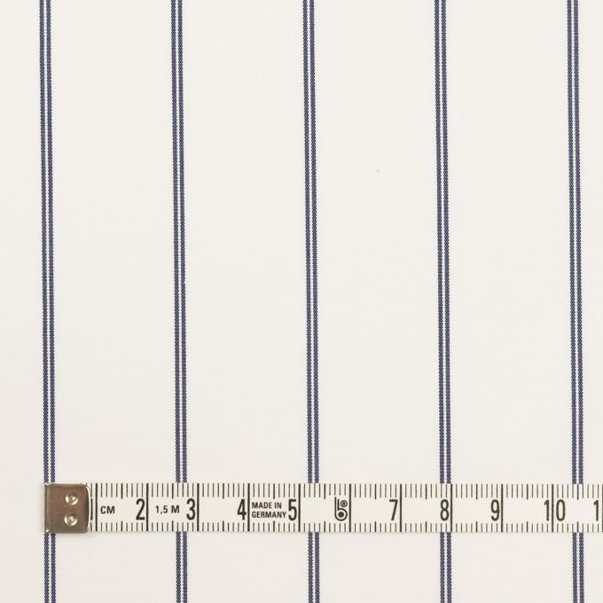 コットン&ポリエステル×ストライプ(ホワイト&ネイビー)×ブロード イメージ4