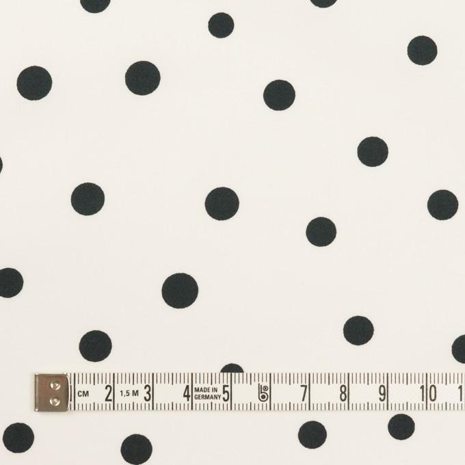 コットン×水玉(オフホワイト&ブラック)×タイプライター(高密ローン) イメージ4