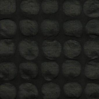 コットン×サークル(ブラック)×ローン_塩縮加工_全2色