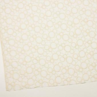 コットン×サークル(エクリュ&ホワイト)×ローン刺繍_全4色 サムネイル2