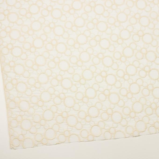 コットン×サークル(エクリュ&ホワイト)×ローン刺繍_全4色 イメージ2