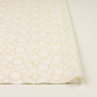 コットン×サークル(エクリュ&ホワイト)×ローン刺繍_全4色 サムネイル3