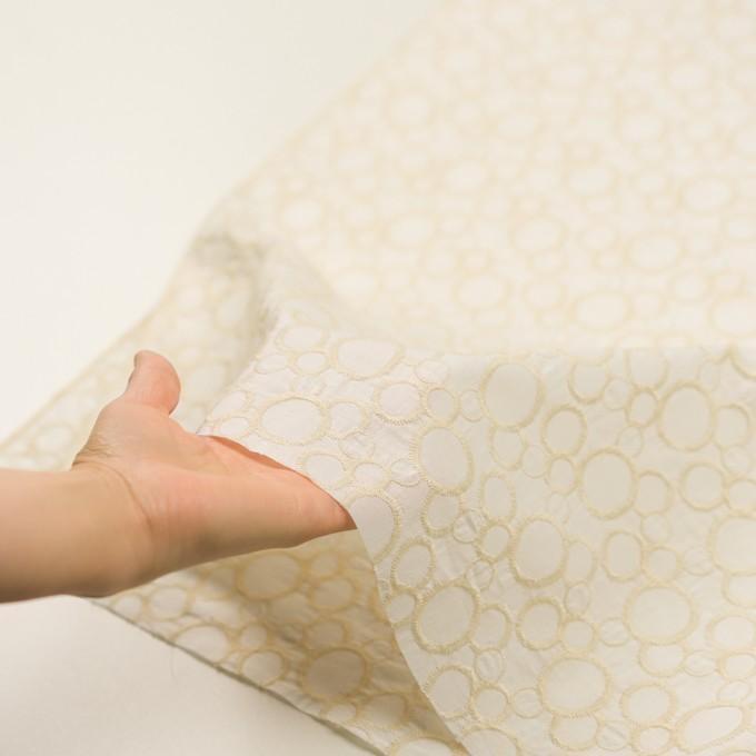 コットン×サークル(エクリュ&ホワイト)×ローン刺繍_全4色 イメージ5