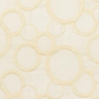 コットン×サークル(エクリュ&ホワイト)×ローン刺繍_全4色
