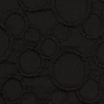 コットン×サークル(ブラック&ブラック)×ローン刺繍_全4色