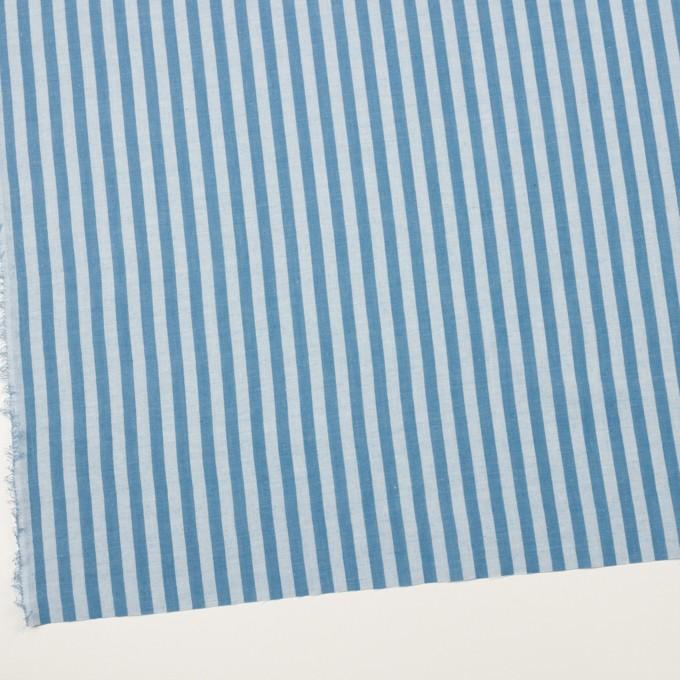 コットン&ポリエステル×ストライプ(ゼニスブルー)×ガーゼ_全2色 イメージ2