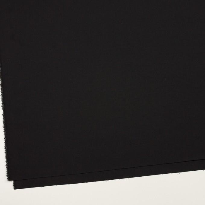 ウール×無地(ブラック)×ポプリン イメージ2