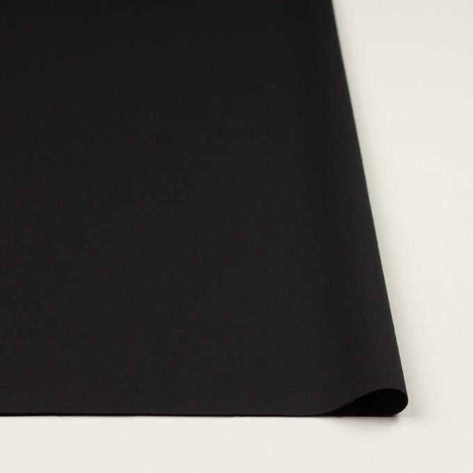 ウール×無地(ブラック)×ポプリン イメージ3