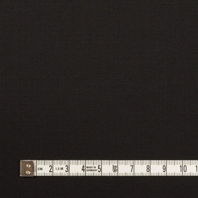 ウール×無地(ブラック)×サージ_イタリア製 イメージ4