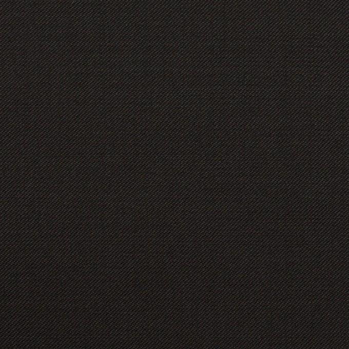 ウール×無地(ブラック)×サージ_イタリア製 イメージ1