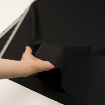 ウール×無地(ブラック)×サージ_イタリア製 サムネイル5