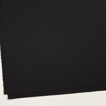 ビスコース&ウール混×無地(ブラック)×サージ_イタリア製 サムネイル2
