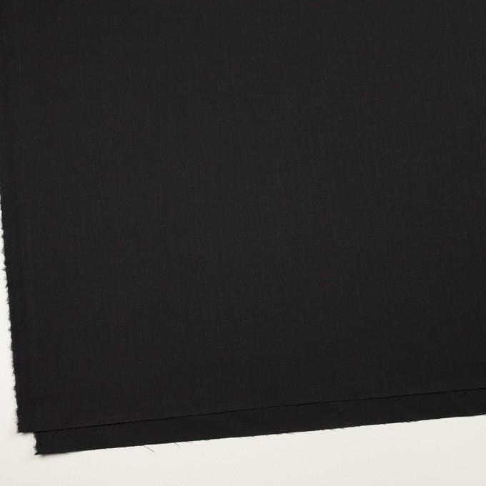 ビスコース&ウール混×無地(ブラック)×サージ_イタリア製 イメージ2
