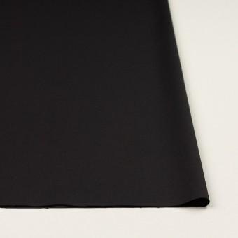 ビスコース&ウール混×無地(ブラック)×サージ_イタリア製 サムネイル3