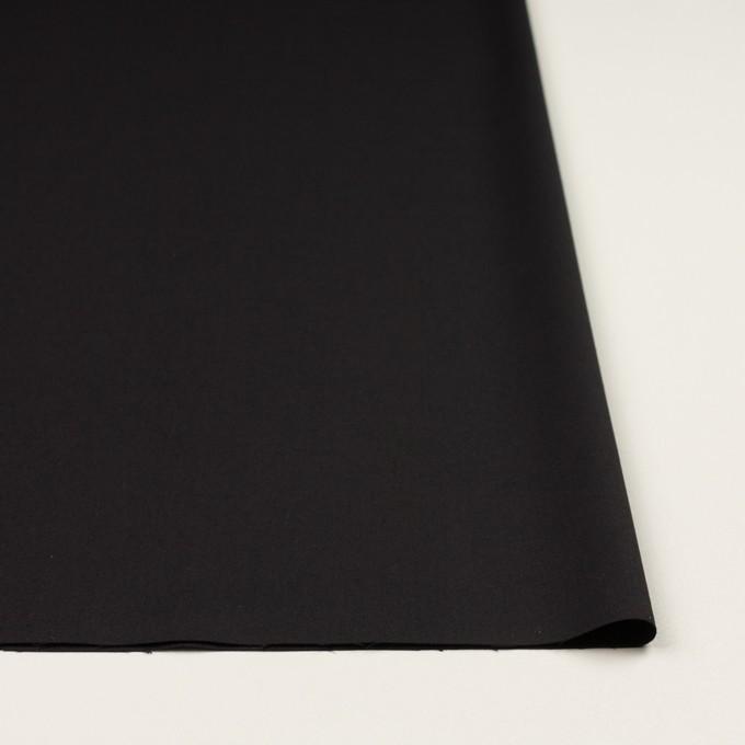ビスコース&ウール混×無地(ブラック)×サージ_イタリア製 イメージ3