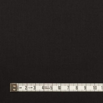 ビスコース&ウール混×無地(ブラック)×サージ_イタリア製 サムネイル4