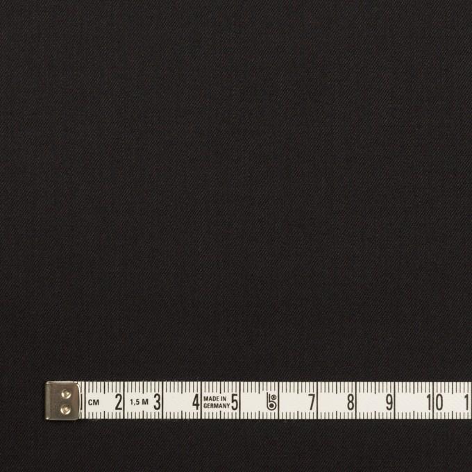 ビスコース&ウール混×無地(ブラック)×サージ_イタリア製 イメージ4